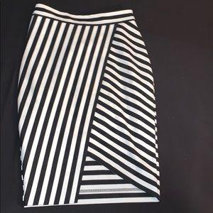 Highwaisted Wrap Pencil Skirt